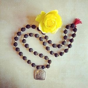 ROSE BEAD MALA NECKLACES